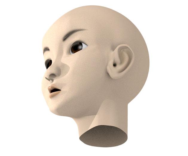 顔モデリングの完成