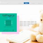 カッコよくスライドする「fullPage.js」