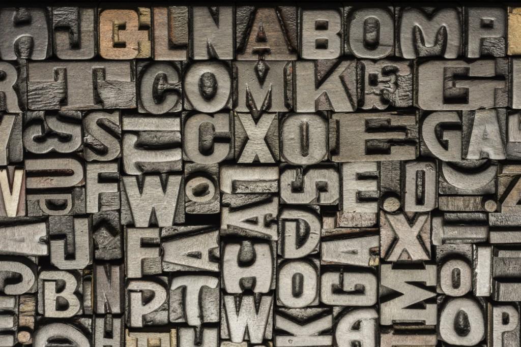 Vintage wooden letterpress